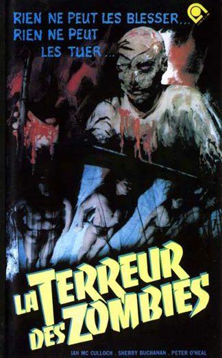 La terreur des zombies affiche