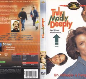 Truly Madly Deeply (Jaquette DVD)