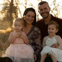 Shanann et Chris Watts avec leurs enfants Bella et Celeste