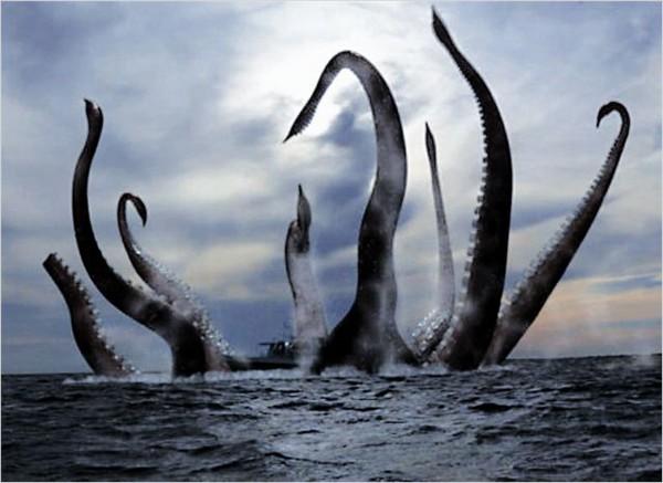 monstres aquatiques tentacules
